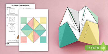 Chatterbox Template- times table, fortune teller, activity, craft, fold, blank