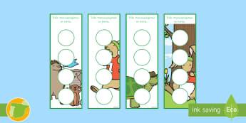 Puntos de libro con pegatinas de premio: La liebre y la tortuga - cuento, infantil, moraleja, liebre, tortuga, fábula, fabula, animales,,Spanish