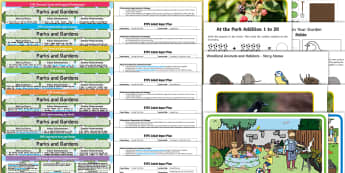 EYFS Parks and Gardens Bumper Planning Pack - Early years planning, Plan, continuous provision, enhancements, adult led, outdoors,