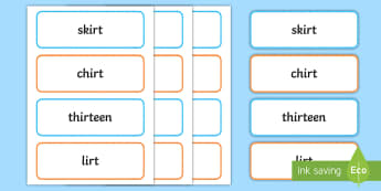Middle East Phase 5 'ir' Real and Nonsense Words Flashcards - Reading, Blending, digraphs, sorting, Phonics, UAE,