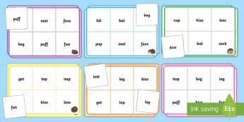 Hedgehog Phoneme Bingo - Phase 2 Activity - Autumn, hedgehog, phoneme, bingo, phase 2, letters and sounds