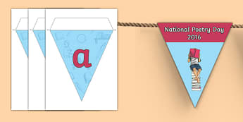 National Poetry Day 2016 Messages Display Bunting