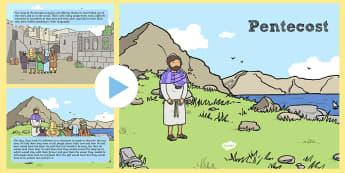 Pentecost Story KS1 PowerPoint - Jesus, Christian,  Festival. Ascension, Ascended, God's Love