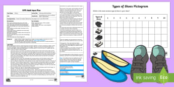 Counting and Sorting Shoes Adult Input Plan and Resource Pack - Early Years Planning, Adult Led, Foundation, Clothes, Maths, Number, Numerals, objects, quantity, Se