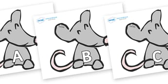 A-Z Alphabet on Mice - A-Z, A4, display, Alphabet frieze, Display letters, Letter posters, A-Z letters, Alphabet flashcards