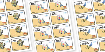 Tiger Themed Editable Book Labels - Themed Book label, label, subject labels, exercise book, workbook labels, textbook labels