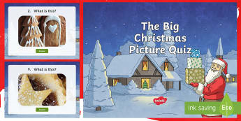 KS1 The Big Christmas Picture Quiz PowerPoint - christmas game, what is it?, mystery object, y1, y2