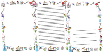 Fairies Full Page Borders - page border, border, frame, writing frame, fairy page borders, fairies, portrait fairy borders, fairy borders, fairy pages, writing template, writing aid, writing, A4 page, page edge, writing activities, lined page, lined,