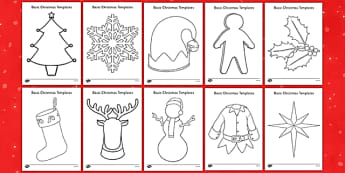Basic Christmas Template Resource Pack - Craft, Christmas, EYFS, basic, template, pack