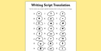 Ancient Sumer Writing Script Translation Sheet - sumer, script