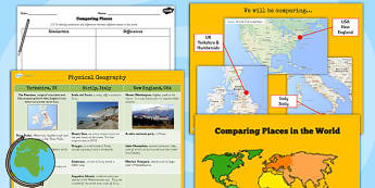 KS2 Geography Comparing Places Lesson Teaching Pack - compare