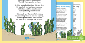 Sharing Shiny Scales Song to Support Teaching on The Rainbow Fish