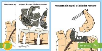 Maqueta de papel: Gladiador romano -  Romanos, Ancient Romans, Arquitectura, Architecture, Ancient History, Imperio Romano, Roman Empire