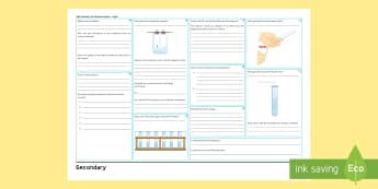 AQA Chemistry Unit 5.8: Chemical Analysis Higher Revision Activity Mat  - KS4 Revision Mats, chemical analysis, chromatography, pure, impure,