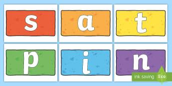 Phase 2 Phonemes on Multicoloured Bricks Cut-Outs - Phase 2 Tricky Words on Multicoloured Bricks - phase 2, tricky words, read, write, trciky words, pha