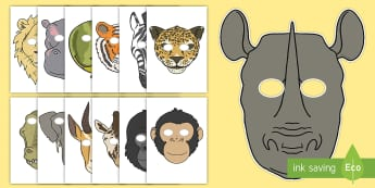 Story Role Play Masks to Support Teaching on Rumble in the Jungle - Story, book, resources, Giles Andreae, David Wojtowycz, role play, mask, masks, activity, teaching resources, book resources, jungle creatures, jungle, book resource