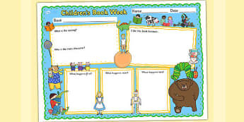 Children's Book Week Book Review Template - reading, books, read