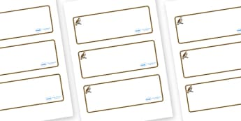 Osprey Themed Editable Drawer-Peg-Name Labels (Blank) - Themed Classroom Label Templates, Resource Labels, Name Labels, Editable Labels, Drawer Labels, Coat Peg Labels, Peg Label, KS1 Labels, Foundation Labels, Foundation Stage Labels, Teaching Label