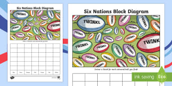 Rugby Themed Count and Graph Activity Sheet - rugby, six nations, rugby union, rugby maths, rugby data handling