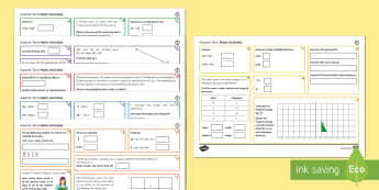 Half Term 1 Middle Ability Maths Activity Mats - activity, mat, maths, ks3, differentiated, skills, half term, key stage 3, middle