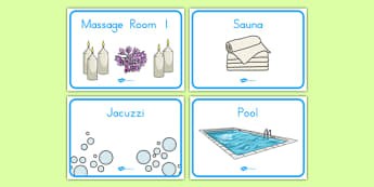 The Spa Role Play Signs - usa, america, spa, role play, the spa, health and wellbeing, signs