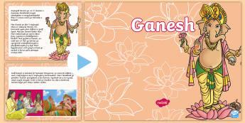 Ganesh, Pwerpwynt Gwybodaeth - WL Social Media Requests in Welsh KS2 (MEDIUM PRIORITY), Chaturthi, Ganesh, Duwies, Hindwaeth, Parva