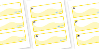 Busy Bee Themed Editable Drawer-Peg-Name Labels (Colourful) - Themed Classroom Label Templates, Resource Labels, Name Labels, Editable Labels, Drawer Labels, Coat Peg Labels, Peg Label, KS1 Labels, Foundation Labels, Foundation Stage Labels, Teaching