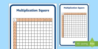 Multiplication Square 12 by 12 Blank Number Square - maths, times tables, numeracy, division, 12 x 12, number facts, multiplication facts, maths starter