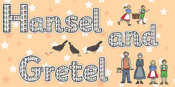 Hansel and Gretel Display Lettering - display, lettering, hansel