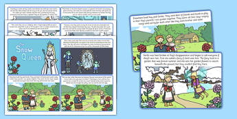The Snow Queen Story Cards - traditional, tales, visuals, visual