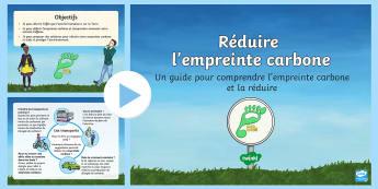 Powerpoint : Réduire l'empreinte carbone - La journée de la Terre - la journée de la terre, terre, Terre, environnement, énergie, dioxyde de carbone, empreinte carbon
