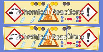 Chemical Reactions Display Banner - display banner, display, banner, chemical reactions