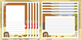 Don't Hog the Hedge! Page Border Pack - Twinkl Originals, Fiction, Autumn, Hiberate, Woodland, Animals, KS1, EYFS, Independent Writing