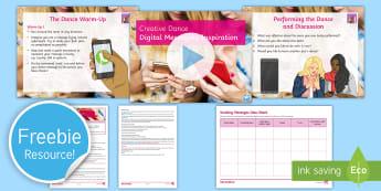 Creative Dance: Digital Messaging Inspiration Lesson Pack - dance, digital dance, creative dance, improvisation, choreography, motif