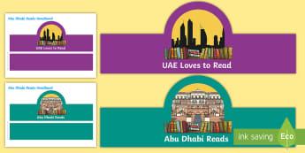 Abu Dhabi Reads Role Play Headbands - UAE, ADEC, MOE, abu dhabi reads
