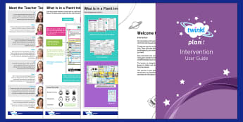 PlanIt Interventions User Guide - planit, intervention, user guide, user, guide, scheme, work, unit, lessons, packs