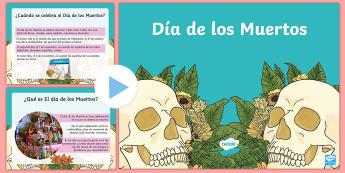 Presentación: Día de los Muertos -  dia de los muertos, pp, ppt, Día de los muertos, español, spanish,