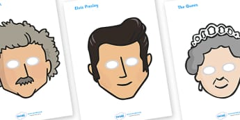 Famous People Role Play Masks - famous people, role play, play, masks, mask, popular, famous, celebrity