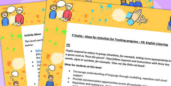 P Scales Ideas Activities for Tracking Progress English Listening