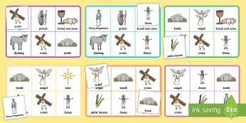 The Easter Story Bingo - Easter, easter story, Jesus, Christian holidays