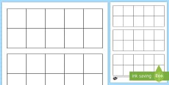 Blank Ten-Frame Worksheet / Activity Sheet - Ten frame, place value, number bonds, ten, number, worksheet