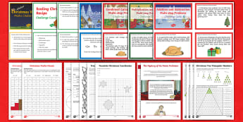 Year 6 Christmas Maths Activity Pack - Year 6 Christmas Maths, Year 6 Maths, Christmas Maths For Year 6, Christmas Maths Activities, christ
