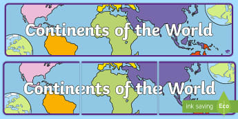 Continents of the World Display Banner - Continents of the World Display Banner - countries, world, countries of the world, display, banner,