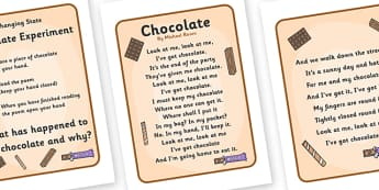 Changing State Chocolate Experiment - States, experiment, activity, liquid, gas, solid, ice, forces, movement, gravity, push, pull, Magnet, friction, science, knowledge and understanding of the world