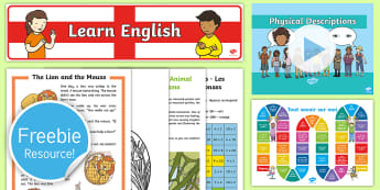 Free English and French Taster Resource Pack - freebie, sample, taste, tester, test, bumper, free,