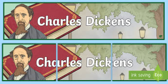 Charles Dickens Display Banner -  themed banner, classroom banner, banner display, header, reading for pleasure