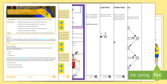 Volleyball Lesson 6: Three Touches  - PE, KS3, Volleyball, three touches, game
