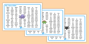 My Word Mat KS1 Dyslexia - ks1 word mat, ks1 dyslexia word mat, ks1 dyslexia font word mat, ks1 sen font word mat, ks1 key words, high frequency word mat