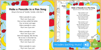 Make a Pancake in a Pan Song - EYFS, Early Years, Pancake Day, Shrove Tuesday, pancakes.