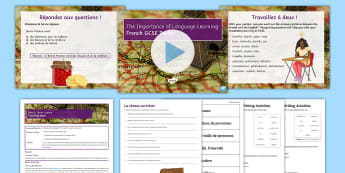 GCSE Options: French Taster Lesson Pack - languages, culture, choosing, languages, Y9,French